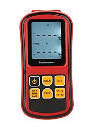 baratos -Termômetro digital gm1312 medidor de temperatura de dois canais para termopar com luz de fundo lcd