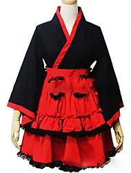 Недорогие -Японский стиль Принцесса Жен. Девочки Кимоно Косплей Крылышко Длинный рукав Короткое / мини