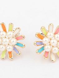 Women's Stud Earrings Drop Earrings Hoop Earrings Imitation Pearl Basic Unique Design Logo Style Pearl Friendship DIY Bikini Turkish