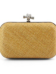 Women Bags Spring/Fall All Seasons Straw Clutch for Event/Party Casual Stage Formal Club Party & Evening Gold
