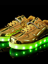 LED's Shoes Girls' Boys' Sneakers Summer Fall Light Up Shoes Synthetic Outdoor Athletic Casual Flat Heel Gore Hook & Loop Purple Silver Gold