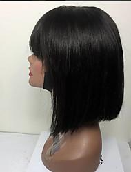 Недорогие -человеческие волосы Remy Полностью ленточные Парик Стрижка боб стиль Бразильские волосы Прямой Парик 130% Плотность волос с детскими волосами Природные волосы Парик в афро-американском стиле 100