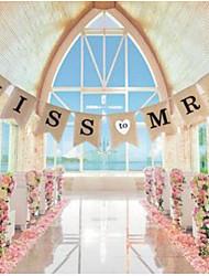Corda Iuta Decorazioni di nozze-8 pezzi Matrimonio Feste Occasioni speciali Compleanno Party/serata Serata/evento Fidanzamento