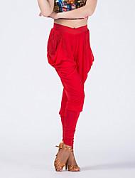 abordables -Baile Latino Pantalones y Faldas Mujer Actuación Fibra de Leche 1 Pieza Cintura Media Pantalones