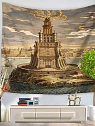 Недорогие -Архитектура Декор стены 100% полиэстер Художественный С узором Предметы искусства, Стена Гобелены Украшение
