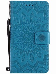 cheap -For Sony Xperia XZ XA Sunflowers Embossed PU Phone Case for M4 M2 Z5  Z4 mini XA Ultra X Xperformance E5 M5