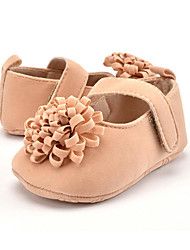 cheap -Children's Baby Shoes Microfibre Winter Fall First Walkers Loafers & Slip-Ons Flower for Casual Party & Evening Dress Red Pink Almond