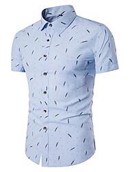 economico -Camicia Per uomo Con stampe, Fantasia geometrica Colletto alla francese