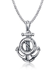 cheap -Men's Round Others Circle Geometric Anchor Personalized Geometric Unique Design Logo Style Dangling Style Classic Fashion Adorable Cute