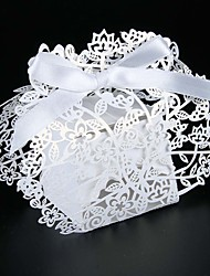 cheap -50pcs Laser Cut wedding box flower candy box  wedding decoration