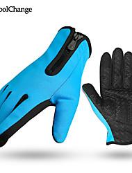 cheap -CoolChange bike gloves full finger slip damping can touch screen plus velvet warm mountain bicycle gloves long finger