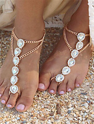 cheap -Women's Anklet/Bracelet Imitation Pearl Rhinestone Alloy Fashion Drop Jewelry For Daily Casual 1 pcs