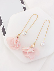 cheap -Women's Drop Earrings Imitation Pearl Euramerican Fashion Alloy Flower Jewelry For Party Daily Casual 1 Pair