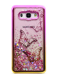 cheap -For Samsung Galaxy J5 (2016) J3 (2016) Case Cover Flowing Liquid Pattern Back Cover Case Glitter Shine Butterfly Soft TPU for J3