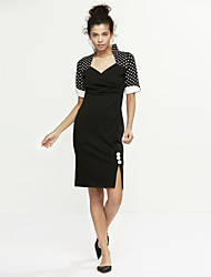 cheap -Women's Classic & Timeless Bodycon Dress - Round Dots, Formal Style Classic Style
