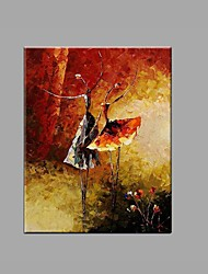 cheap -Hand-Painted Abstract Knife Ballet Girl Oil Painting For Home Decoration Stretched Frame Ready To Hang