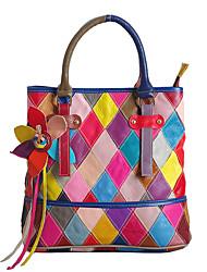 Women Bags All Seasons Cowhide Shoulder Bag Petals Tassel for Rainbow