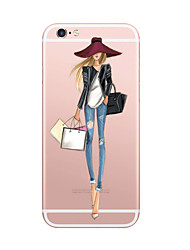 Per iPhone X iPhone 8 Custodie cover Ultra sottile Fantasia/disegno Custodia posteriore Custodia Sexy Morbido TPU per Apple iPhone X