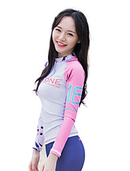 cheap -Women's Sports Tactel Diving Suit Long Sleeves Top-Snorkeling Spring/Fall Print