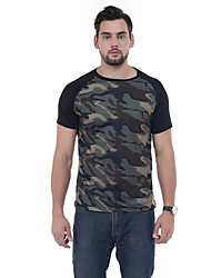 Herren Patchwork Einfach Normal T-shirt,Schmuck Frühling Kurzarm 100% Baumwolle 90% Fleece 10% Naturseide 30D