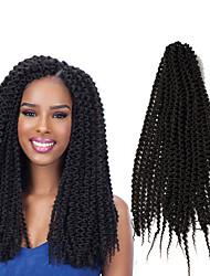 cheap -freetress 22inch pre loop island twist crochet braids synthetic braiding hair extensions beauty kinky curly island twist out unraveled twist weave