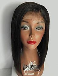Vente chaude bob dentelle front perruques cheveux humains cheveux droits pour femme 130% densité brésilien vierge cheveux perruques partie