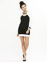 Damen Kleid - Bodycon Sexy Einfarbig Mini Polyester Schleife