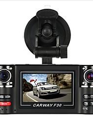 Недорогие -F30S HD 1280 x 720 Автомобильный видеорегистратор 120° Широкий угол 2.7 дюймовый Капюшон с Автомобильный рекордер