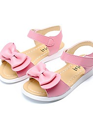cheap -Girls' Sandals Slingback Comfort Flower Girl Shoes Light Soles Microfibre Summer Fall Outdoor Dress Casual Walking Bowknot Flat Heel