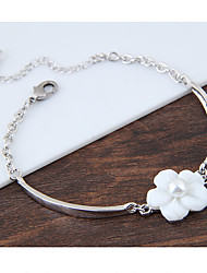 billige -Dame Charm-armbånd - Skal Blomst Mode Armbånd Hvid Til Fødselsdag