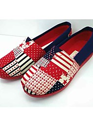 cheap -Women's Loafers & Slip-Ons Light Soles Fabric Spring Summer Casual Flat Heel Ruby Flat