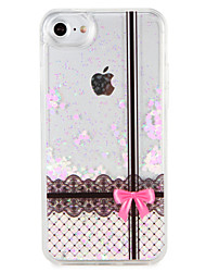 cheap -Case  for Apple iPhone 7 7 Plus Lace Printing Glitter Shine Pattern Flowing Liquid Hard  PC  6s Plus 6 plus 6s 6