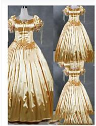 abordables -Gótico / Victoriano / Medieval Disfraz Mujer Vestidos / Ropa de Fiesta / Baile de Máscaras Cosecha Cosplay Satín / Other Manga Corta