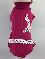 economico -Gatto Cane T-shirt Tuta Pigiami Pantalone Abbigliamento per cani Casual Floral / botanico Rose Verde