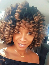 Bouncy Curl Synthetic ombre braiding hair braids 8inch saniya curls crochet braids kanekalon small bouncy curly 20roots/pack 5packs make head