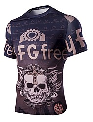 Men's Short Sleeves Bike T-shirt Sweatshirt Tops Breathable Sports Summer Exercise & Fitness Leisure Sports Light Purple