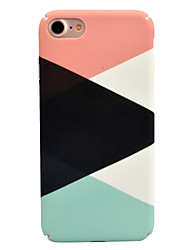 cheap -For Apple iPhone 7 7 Plus 6S 6 Plus Case Cover Stitching Pattern Decal Skin Care Touch PC Material Phone Case