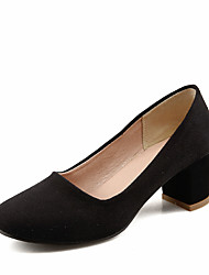 Women's Heels Others Leatherette Spring Summer Graduation Thank You Business Daily Evening Party Others Chunky Heel Black Ruby Blue5in &