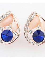 Women's Girls' Stud Earrings Synthetic Opal Rhinestone Basic Circular Unique Design Rhinestone Rhinestones Pearl Friendship Personalized