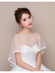 cheap -Lace Tulle Wedding Birthday Party Women's Wrap Capelets Elegant Style