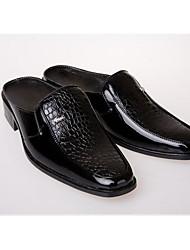 Homme Chaussures Polyuréthane Printemps Confort Sabot & Mules Pour Décontracté Blanc Noir