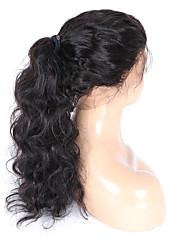 cheap -Remy Human Hair Full Lace / Glueless Full Lace Wig 360 Frontal / Body Wave 150% Density Natural Hairline / African American Wig / 100% Hand Tied Women's Medium Length / Long Human Hair Lace Wig