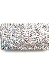 Women Bags Spring Summer Satin Clutch Sequin for Wedding Event/Party Sports Formal Office & Career Silver