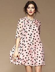 Для женщин На выход На каждый день Простое Уличный стиль Изысканный А-силуэт Свободный силуэт С летящей юбкой ПлатьеС принтом Растровые