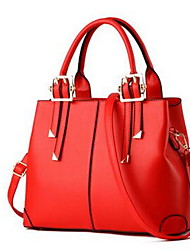 Women Bags Summer Winter PU Shoulder Bag for Casual Yellow Fuchsia Wine Light Blue Red