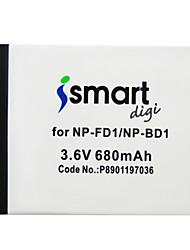 Ismartdigi FD1 3.6v 680mAh Camera Battery for Sony BD1 T90 900 70 700 500 200 77 100 2 20 TX1 HX5C WX1 WX10 HX7 HX10 G3