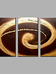preiswerte -Handgemalte Abstrakt Vertikal,Moderne Drei Paneele Hang-Ölgemälde For Haus Dekoration