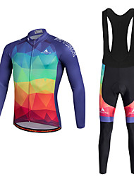 cheap -Miloto Cycling Jersey with Bib Tights Men's Bike Clothing Suits Bottoms Quick Dry Front Zipper Polyester 100% Polyester LYCRA® Spring