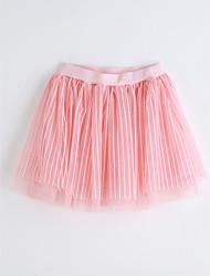 Girls Striped Skirt-Cotton Summer