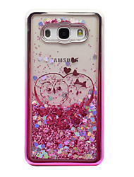 cheap -For Samsung Galaxy J5 (2016) J3 (2016) Case Cover Flowing Liquid Pattern Back Cover Case Glitter Shine Owl Soft TPU for J3